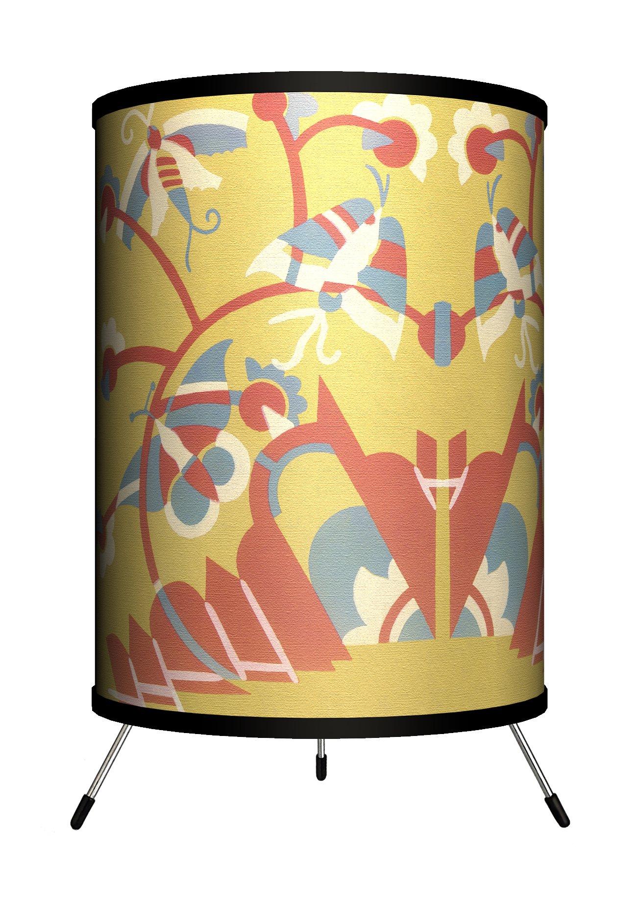 """Lamp-In-A-Box TRI-DEC-BUGSD Décor Art Bugs Deco Tripod Lamp, 8"""" x 8"""" x 14"""""""
