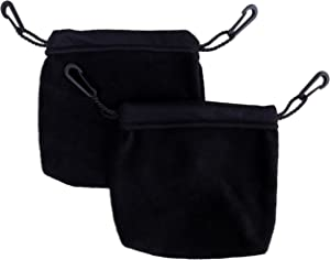 Two Sleeping Pouches (Black) for Sugar Gliders and Other Small Pets
