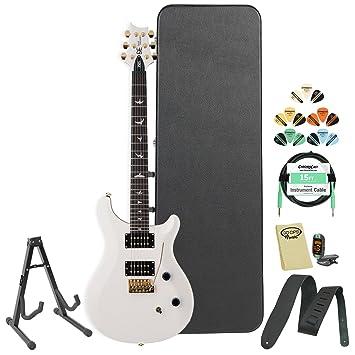 PRS SE Dave Navarro (dnjw) Jet blanco guitarra eléctrica w/accesorios duro caso
