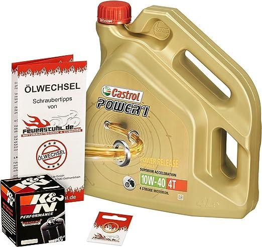 Castrol 10w 40 Öl K N Ölfilter Für Honda Cb 900 F Hornet 02 06 Sc48 Ölwechselset Inkl Motoröl Filter Dichtring Auto