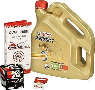 Castrol 10w 40 Öl K N Ölfilter Für Honda Cbr 900 Rr Fireblade 00 03 Sc44 Sc50 Ölwechselset Inkl Motoröl Filter Dichtring Auto
