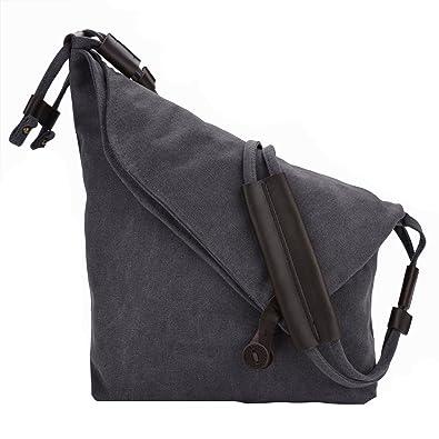 a8a3e2dd4e11 Amazon.com  ZIIPOR Oversized Crossbody Bag Messenger Bag Casual Canvas Hobo  Bag Shouder Bag Satchel Unisex (Grey)  Shoes