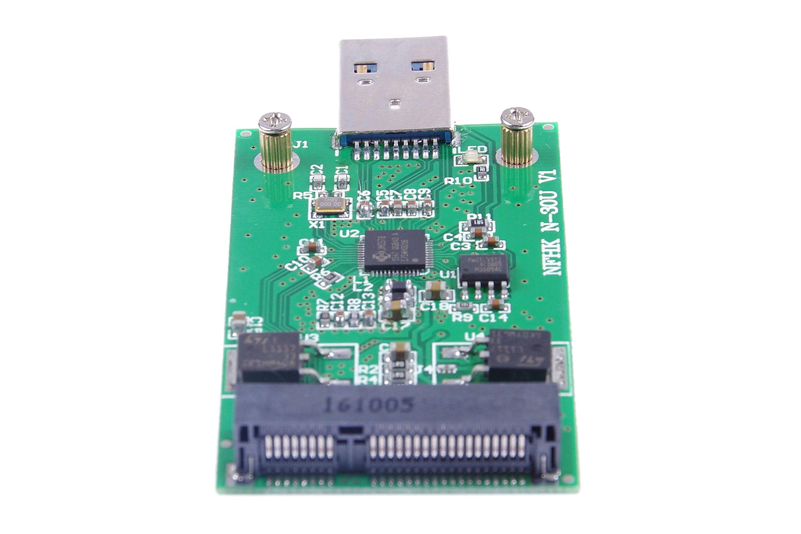 KNACRO USB 3.0 mSATA SSD Adapter as USB Disk Driver don't need USB cable USB 3.0 to mSATA SSD adapter card by KNACRO (Image #4)