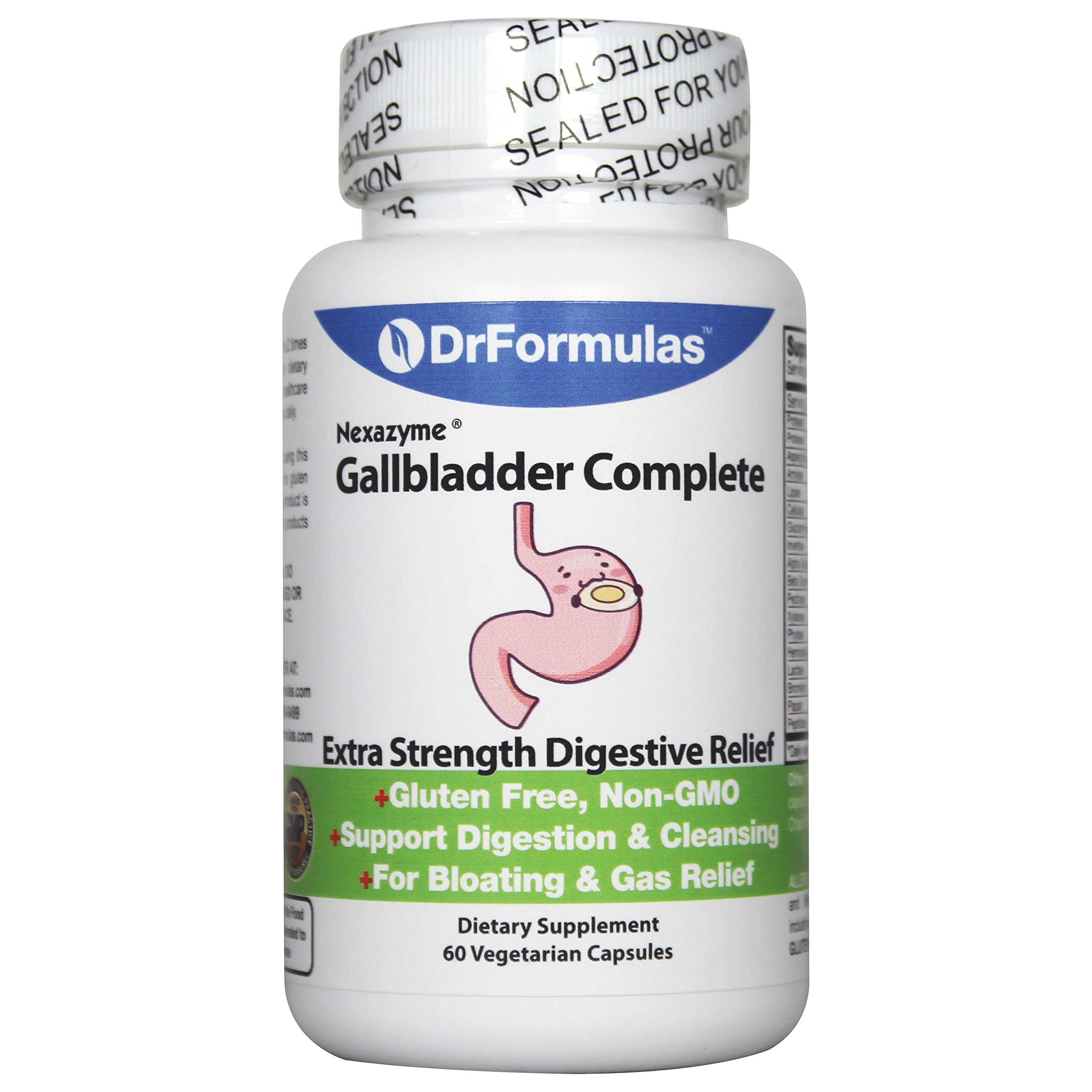 Gallbladder Formula by DrFormulas | Complete to Support Cleanse & Digestion, Supplements Contain Digestive Enzymes Amylase, Protease, Lipase, Lactase, Cellulase, Bromelain 60 Capsules by DrFormulas