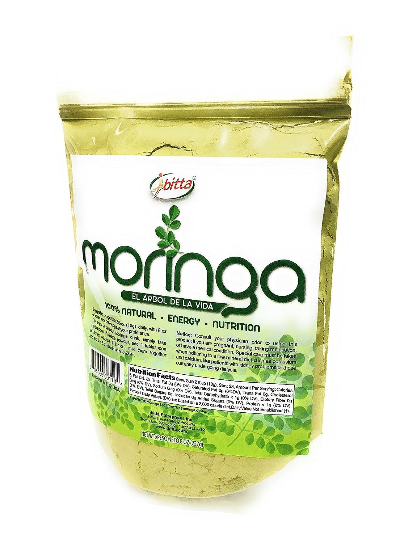 Amazon.com: Ibitta® Moringa Green Leaf Powder 100% Natural Pure Raw Moringa Oleifera Non-GMO for Nutrition & Energy Boost 8 oz: Health & Personal Care