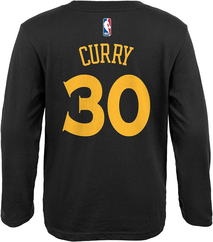 adidas – Gorra del Equipo de Baloncesto de la NBA Juventud Stephen Curry Golden State Warriors Reproductor Nombre y número de Manga Larga Jersey Camiseta, Negro: Amazon.es: Deportes y aire libre