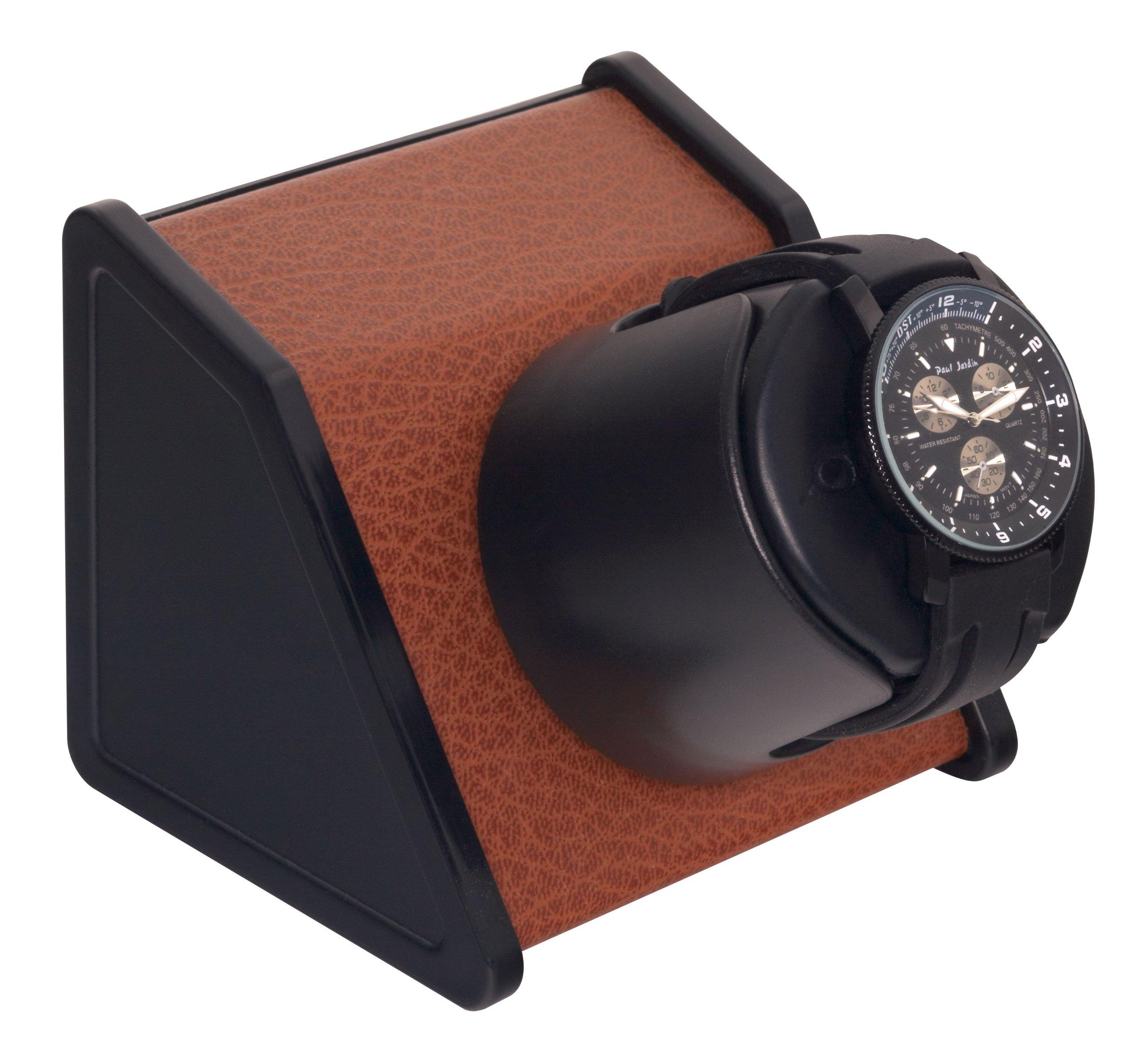 Sparta 1 Watch Winder in Brown Leatherette by Orbita