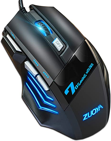 Amazon.com: ZUOYA Professional Gaming Mouse Wired,4 DPI Adjustable, LED Backlight,USB Optical Mice for Laptop PC Computer Games & Work (MMR3 PRO-Black): Computers & Accessories