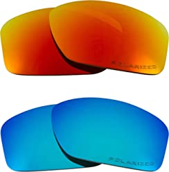 e319629a3fa Square Wire (2006) Replacement Lenses Polarized Blue   Red by SEEK fits  OAKLEY
