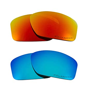 7a9eaa50b0 Image Unavailable. Image not available for. Color  Sideways Replacement  Lenses Polarized Blue   Red by SEEK fits OAKLEY Sunglasses
