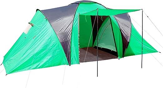 Campingzelt Loksa, 4 Mann Zelt Kuppelzelt Igluzelt Festival Zelt, 4 Personen ~ grün