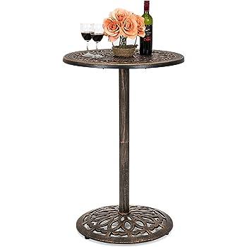 Amazon.com: Belham Living Capri Wrought Iron Bar Height ... on Belham Living Capri Wrought Iron Outdoor Bistro Set By Woodard id=59038