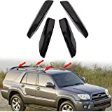 ECOTRIC 4Pcs Black Roof Rack Rail End Bar Cover Cap Shell Protection Replace for 2003-2009 4Runner SW4 N210