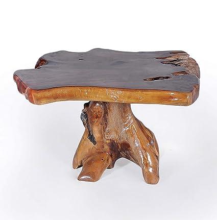 681ce0c68017 Amazon.com  CHIC TEAK Genuine Teak Wood Slab Coffee Table Made  Kitchen    Dining