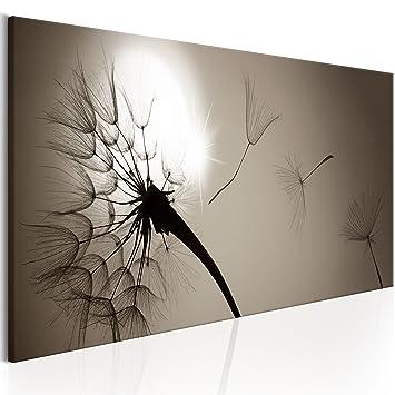 decomonkey | Bilder Pusteblume 120x40 cm | 1 Teilig | Leinwandbilder ...