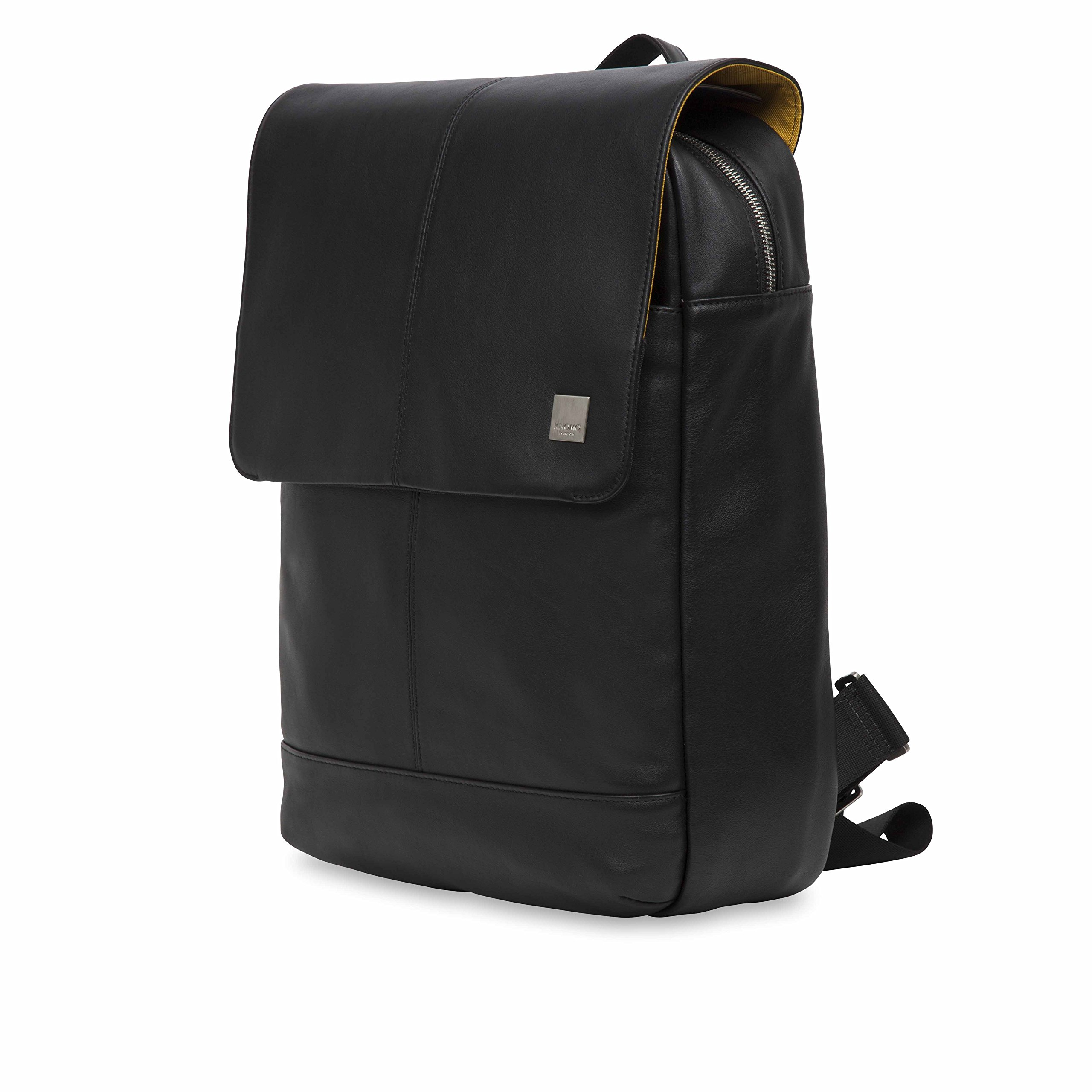 Knomo Luggage Men's Knomo Brompton Classic Hudson 15.6'' Business Backpack, Black, One Size