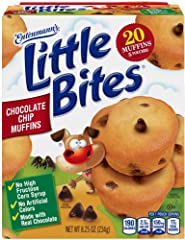 Entenmann's Little Bites Chocolate Chip Mini Muffins made with Real Chocolate, 5 pouches