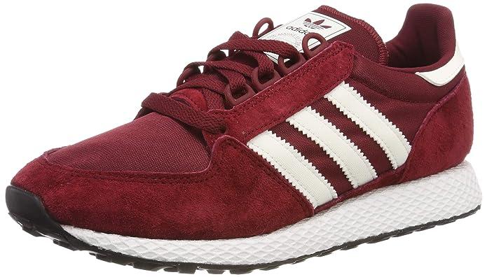 adidas Forest Grove Herren Schuhe rot (Collegiate Burgundy) mit weißen Streifen