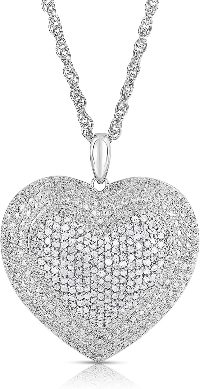 EXCLUSIVE- Big Bold Cross -Heart -Cushion Necklace Pendant Collection