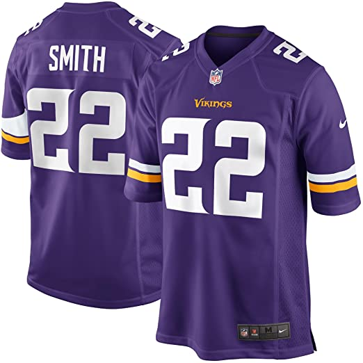 a3bb78bc5 Image Unavailable. Image not available for. Color  Nike Harrison Smith Minnesota  Vikings Purple Game Jersey ...