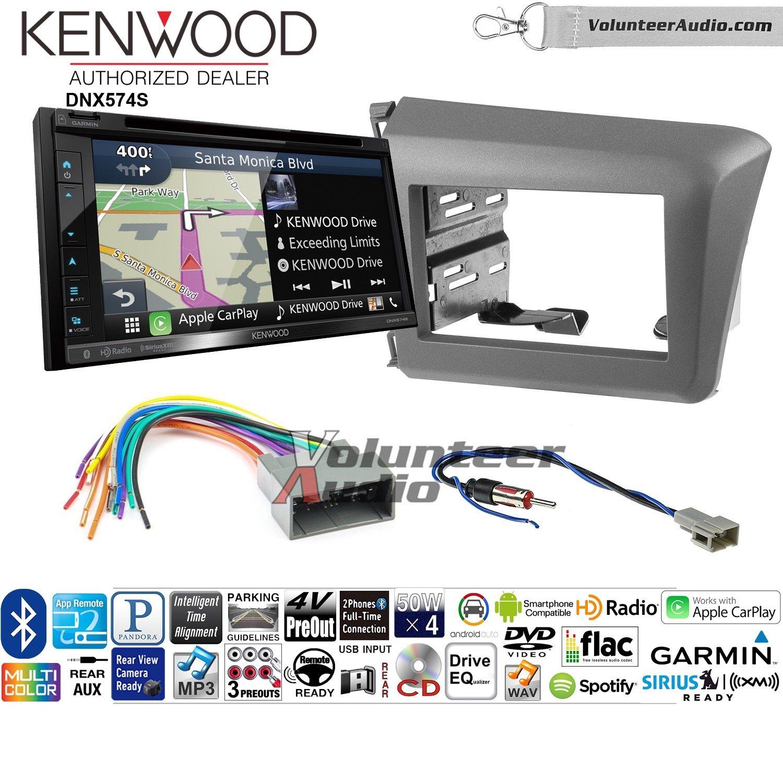 ボランティアオーディオKenwood dnx574sダブルDINラジオインストールキットwith GPSナビゲーションApple CarPlay Android自動Fits 2011 – 2016ホンダOdyssey B07C28YWHS
