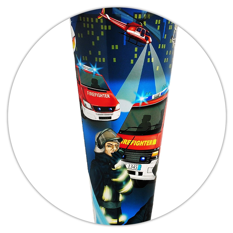 Unbekannt mit _ LED Licht & Effekt Sound Effekt & Modul   _ Schultüte -  Feuerwehr - Feuerwehrmann & Feuerwehrauto  - 70 cm - rund - incl. Name und individueller Schleife - Fi.. 8a2ac2