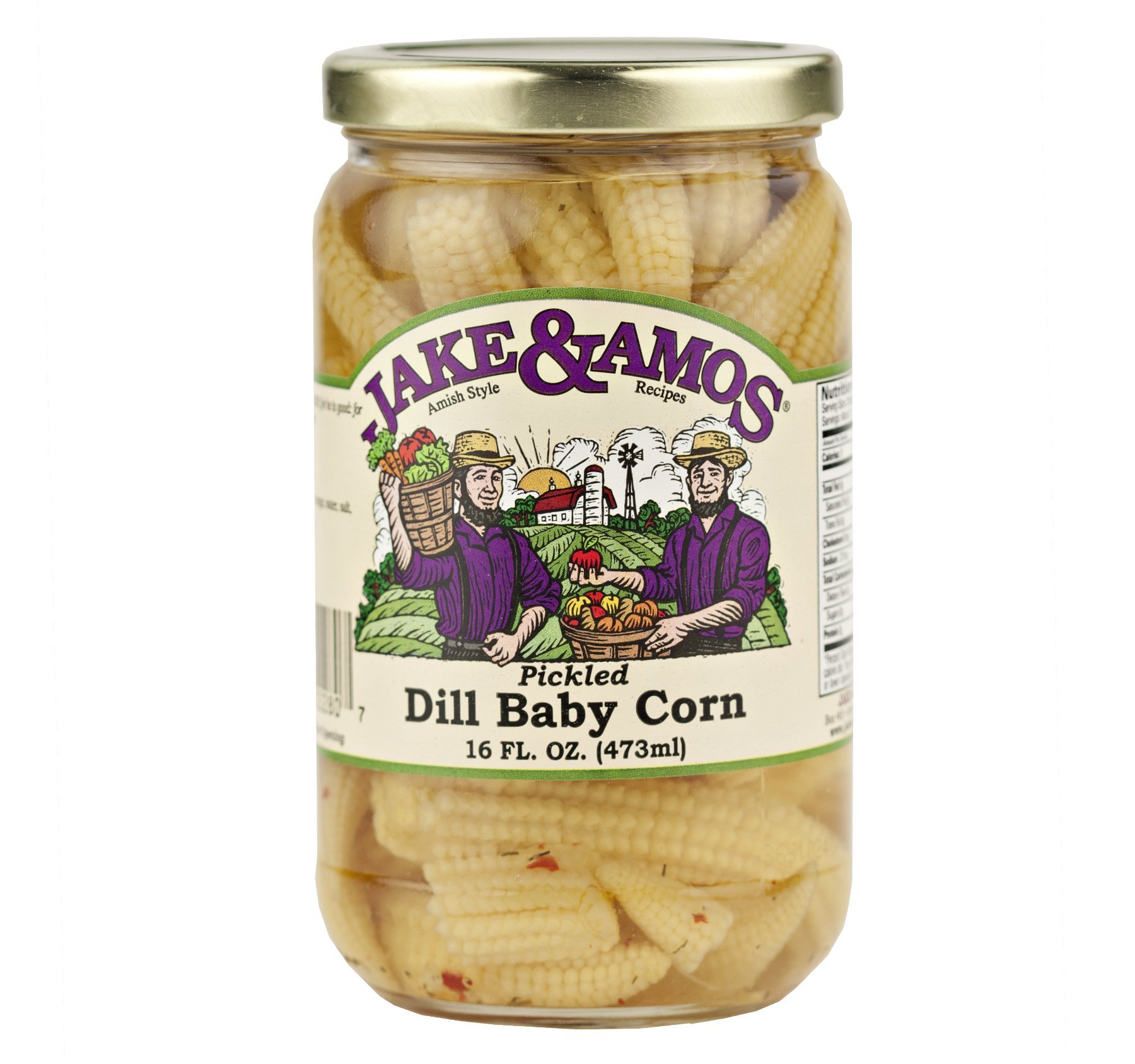 Jake & Amos Pickled Dill Baby Corn / 2 - 16 Oz. Jars by Jake & Amos