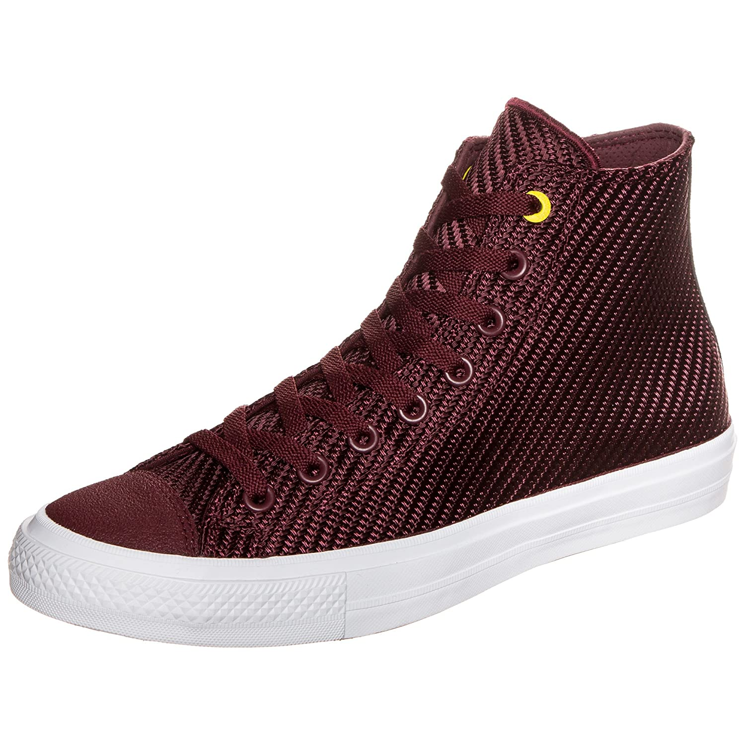 5246c7e3b866 ConverseCHUCK TAYLOR ALL STAR II - High-top trainers - deep bordeaux fresh  yellow white  Amazon.co.uk  Shoes   Bags