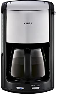 Krups Proedition INOX FMD3 - Cafetera (Negro, Cromo, 1,25L, 0