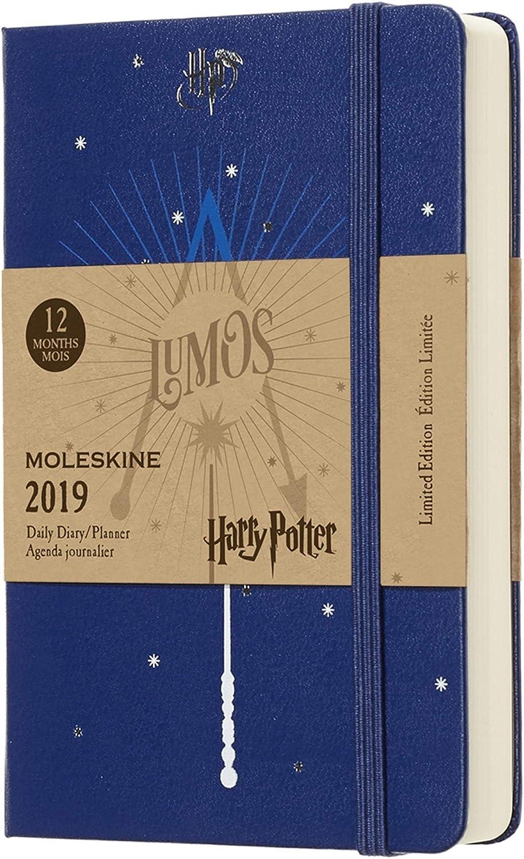 Moleskine DHP12DC2Y19 - Diario 12m de Edición Limitada Harry Potter de Bolsillo, Color Azul (AGENDA 12 MOIS EDT LIMITEE)