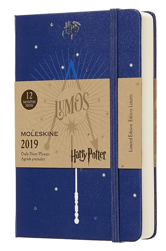Moleskine DHP12DC2Y19 - Diario 12m de Edición Limitada Harry Potter de Bolsillo, Color Azul