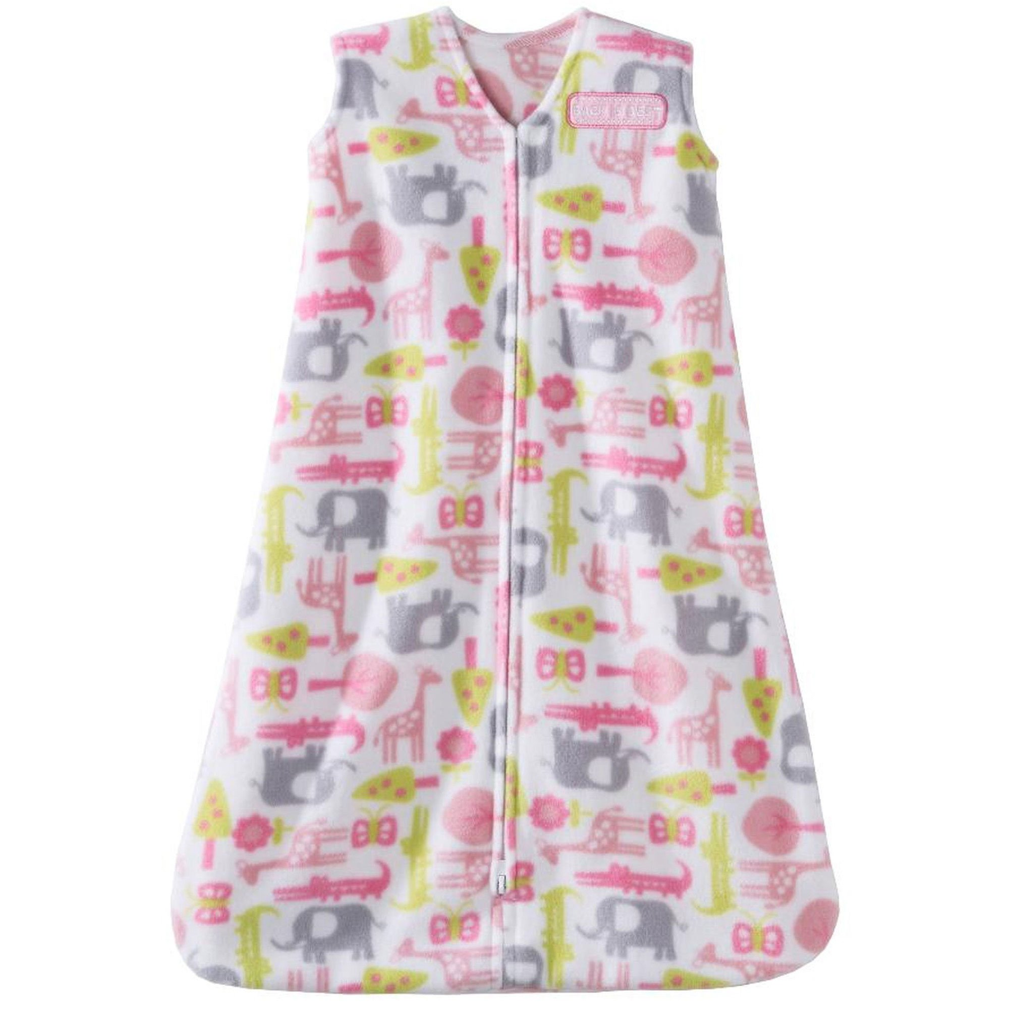 Halo SleepSack Microfleece Wearable Blanket, Pink Jungle, Size Large