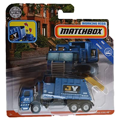 Matchbox Working Rigs Service Series [Blue] Garbage King HD: Toys & Games