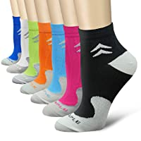 QUXIANG Compression Socks for Women and Men (3/6/7 Pairs) Arch Support Low Cut 15...