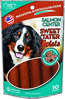 product image for Carolina Prime Pet 45216 Sweet Tater Twist-Salmon Center Treat For Dogs ( 1 Pouch), One Size
