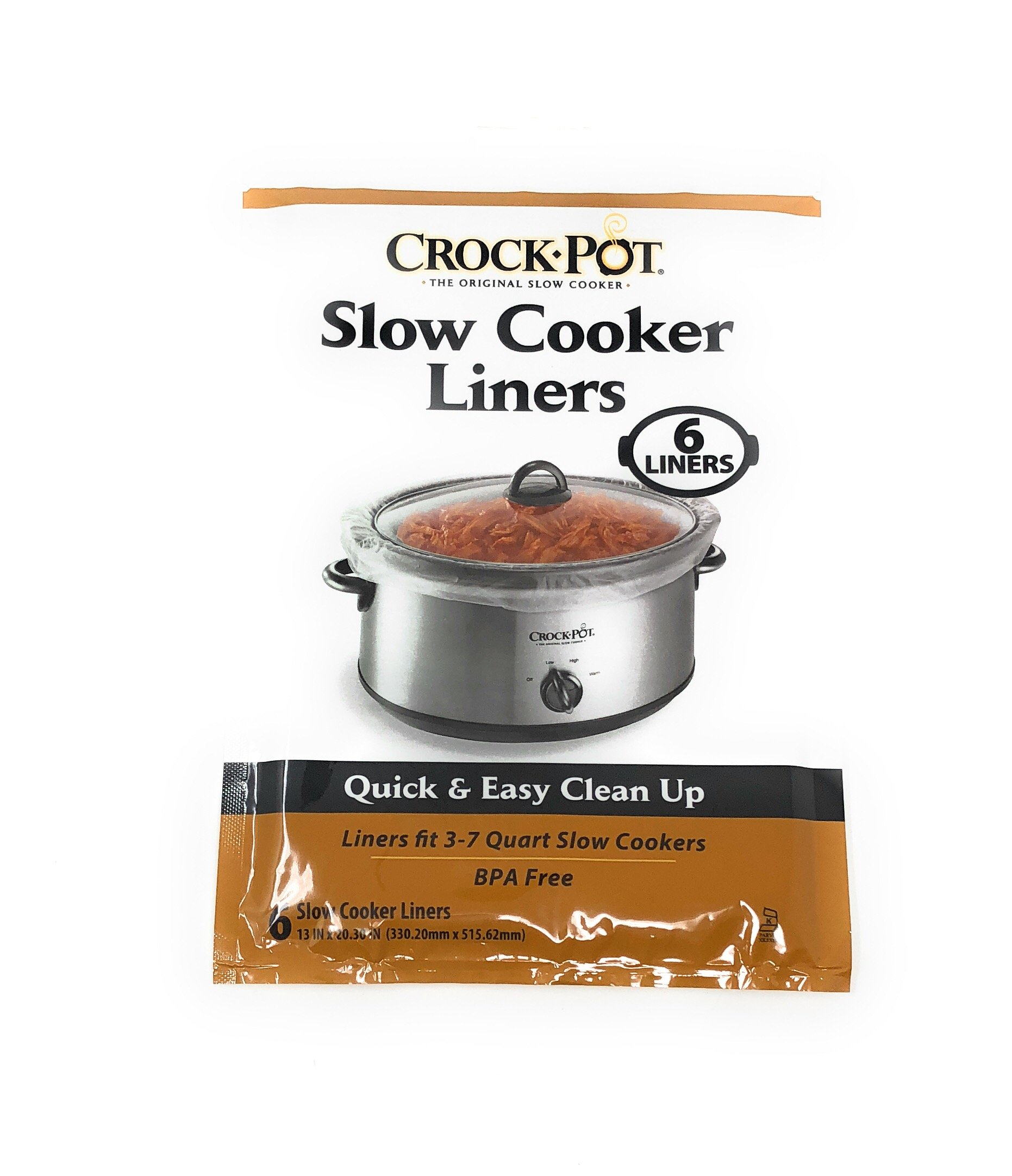 Crock-Pot Slow Cooker Liners ~ 6 liners