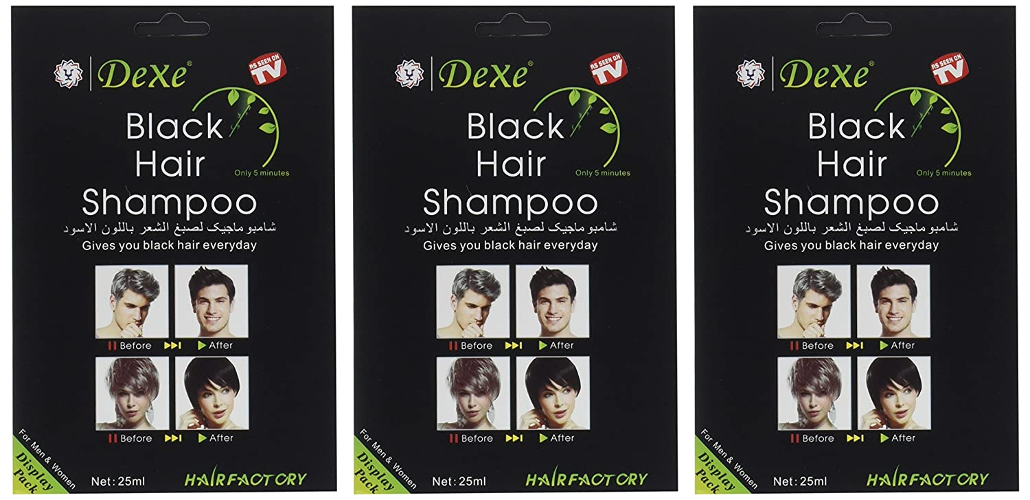 Amazon Com Instant Hair Dye Black Hair Shampoo 3 Black Color