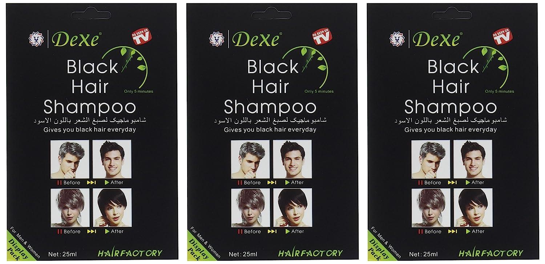 Amazon Instant Hair Dye Black Hair Shampoo 3 Black Color