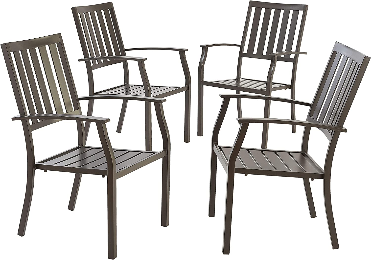 Better Homes & Gardens Camrose Farmhouse Mix and Match Slat-Back Stacking Dining Chairs, Set of 4