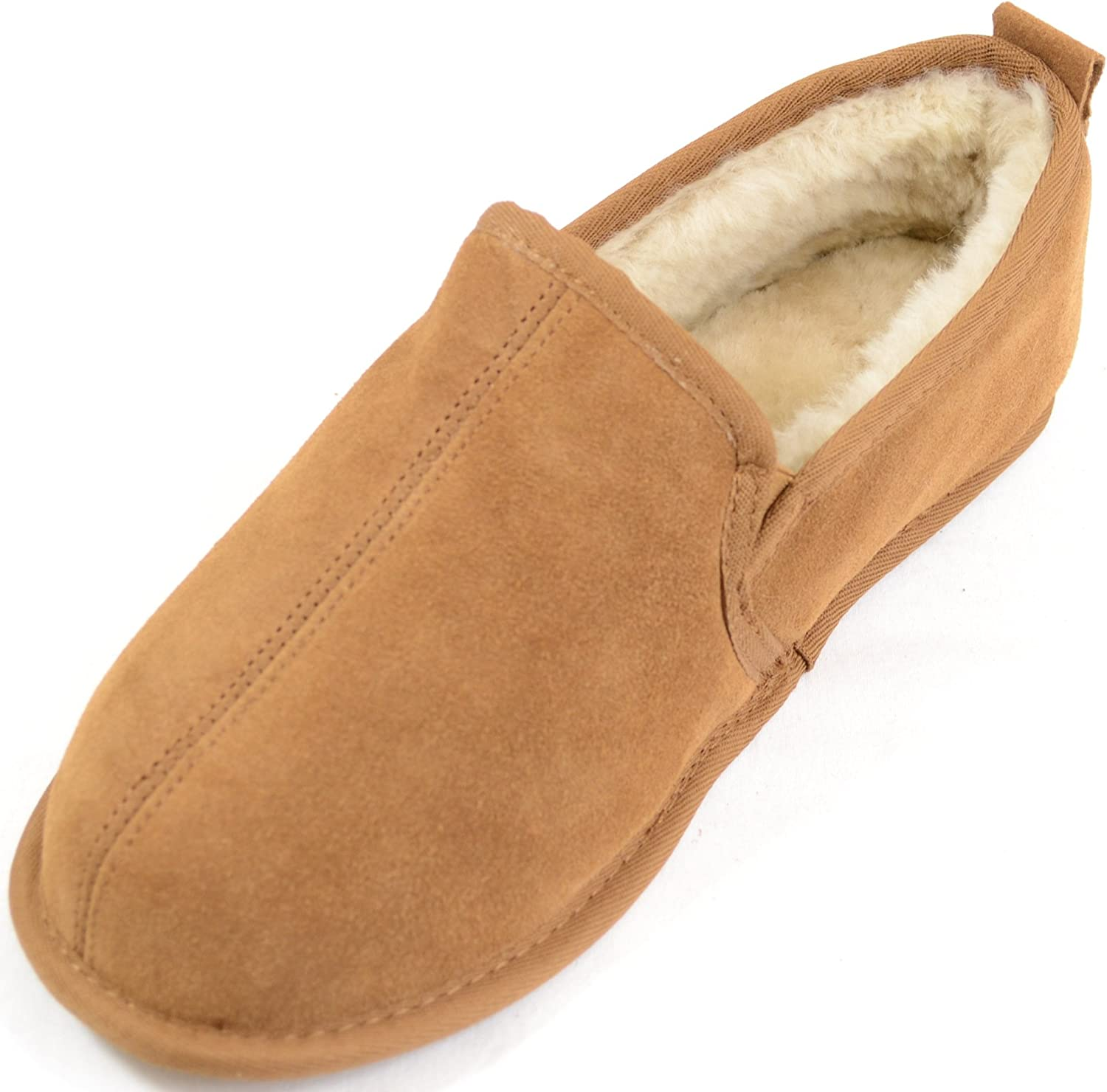 Sheepskin Slippers with Leather Soles size UK7