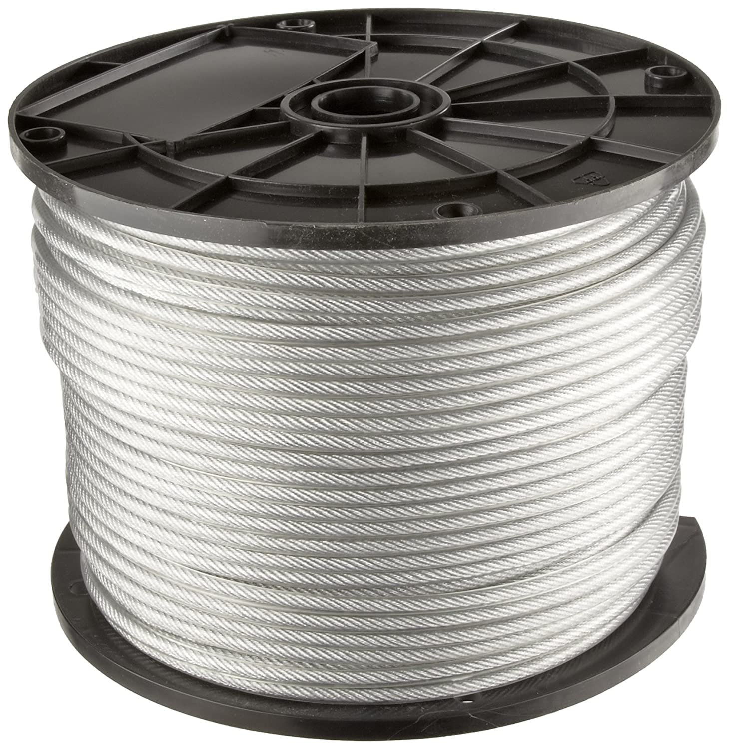 Galvanized Steel Wire Rope, Vinyl Coated, 7x7 Strand Core: Cable ...