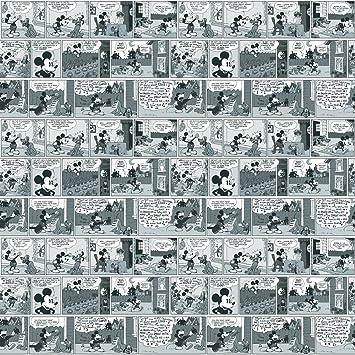Imperial Disney Home Df059692 Mickey Comic Strip Wallpaper Black