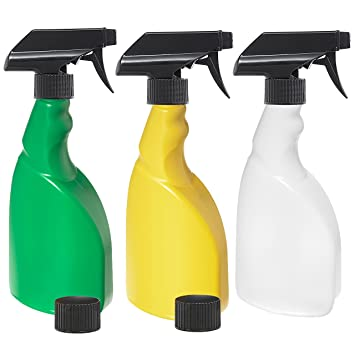3 botellas de spray de 500 ml para plantas, un paquete de 3: verde