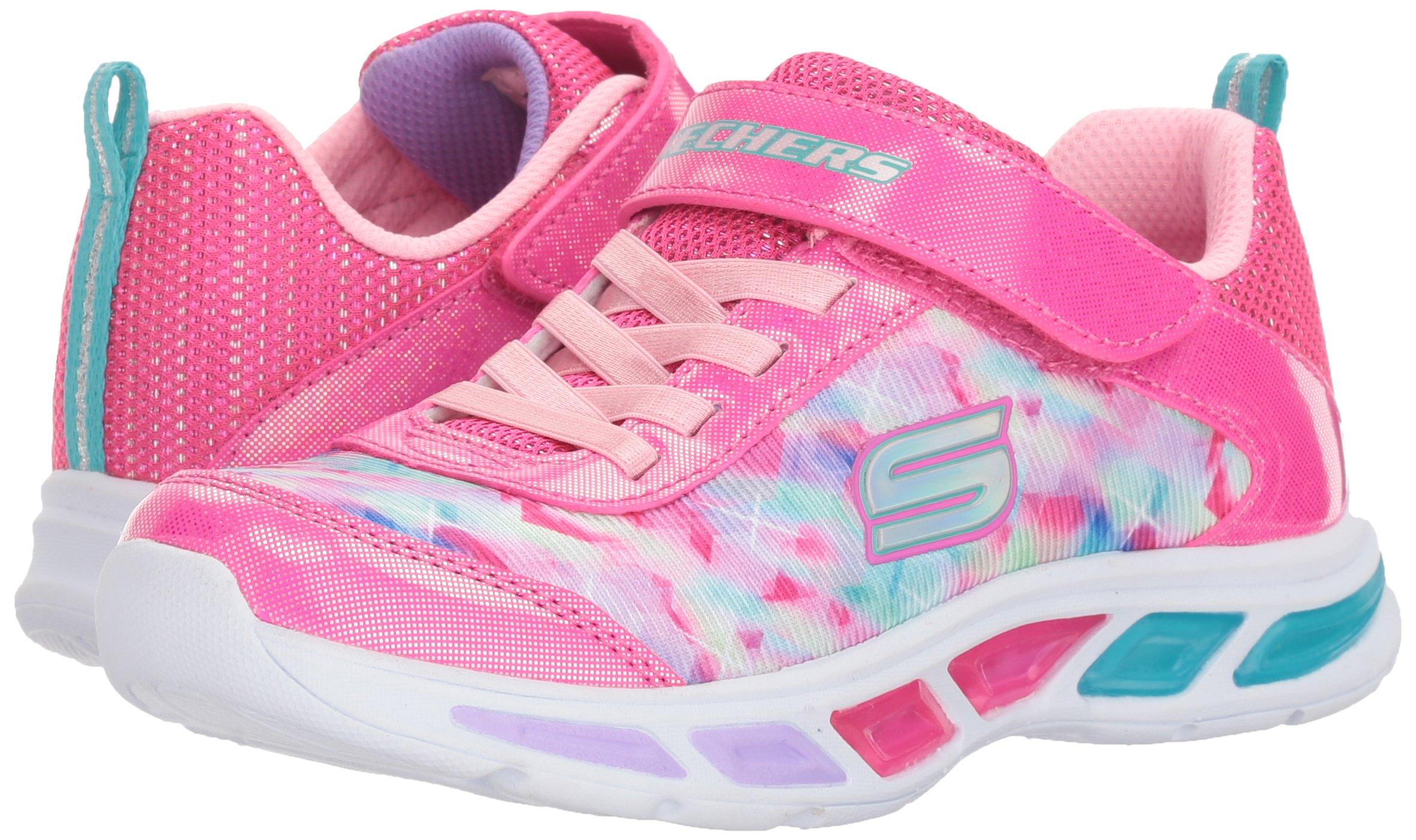 Skechers Kids Girls' Litebeams-Dance N'Glow Sneaker,neon Pink/Multi,1 Medium US Little Kid by Skechers (Image #6)