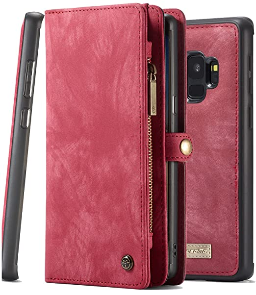 ed55e03db559 Galaxy S9 Wallet Phone Detachable Case XRPow Samsung S9 Multi-Functional  Folio Flip Vegan Leather Wallet Removable Magnetic Back Cover 11 Card Slots  & ...