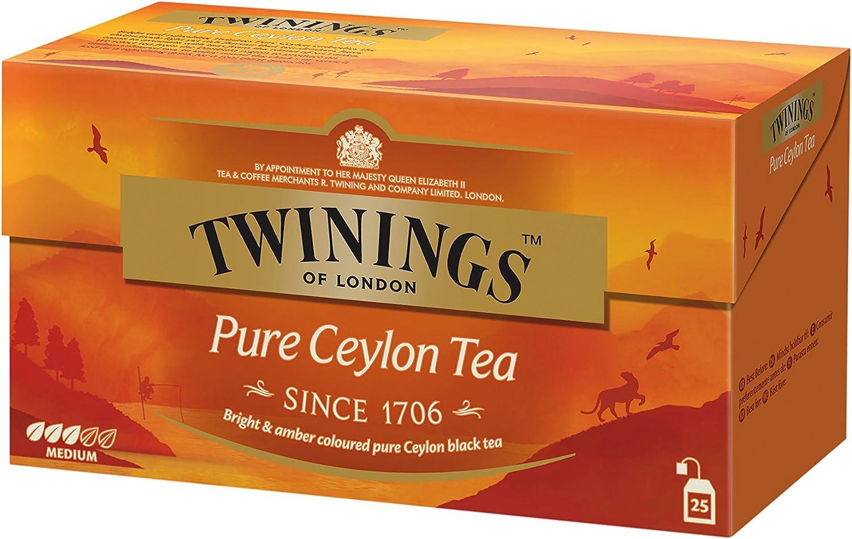 Twinings Of London Té Pure Ceylon - 25 Bolsitas: Amazon.es: Alimentación y bebidas