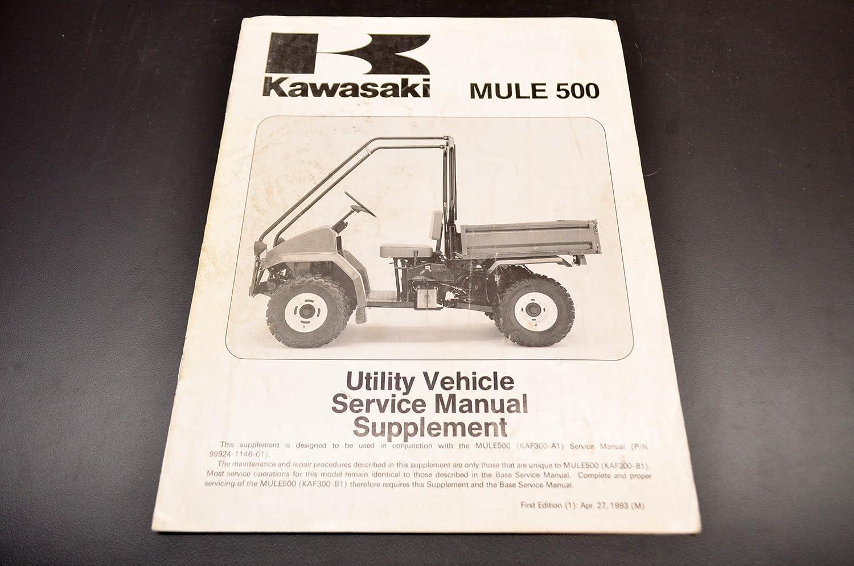 Amazon.com: Kawasaki 99924-1167-51 Mule 500 Service Manual Supplement QTY  1: Automotive