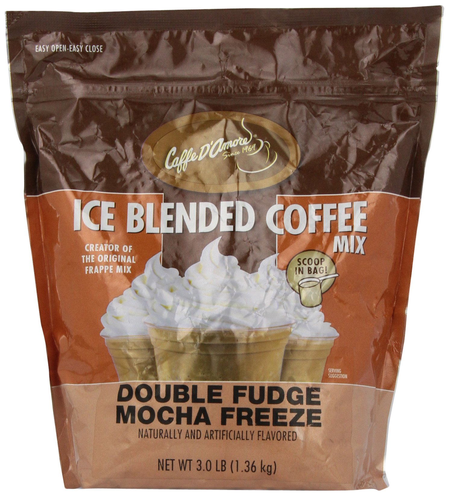 DaVinci Gourmet Iced Coffee Double Fudge Mocha Blended Drink Mix, 3 Pounds by DaVinci Gourmet