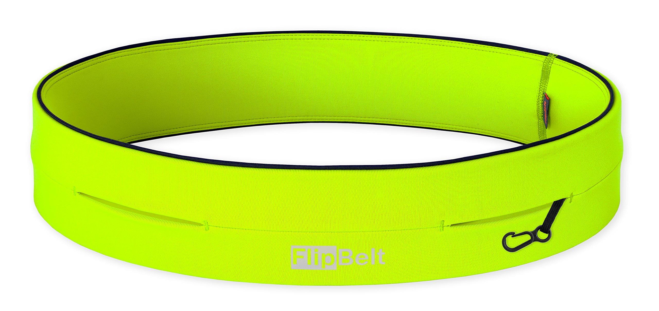 FlipBelt Level Terrain Waist Pouch, Neon Yellow, Large/32-35 by FlipBelt