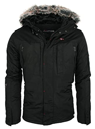 Geographical Norway warme Herren Winter Jacke Outdoor Funktions Parka   GeNo-10-Schwarz- 0ab6e4274a